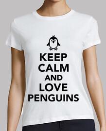 mantener la calma y ame pingüinos