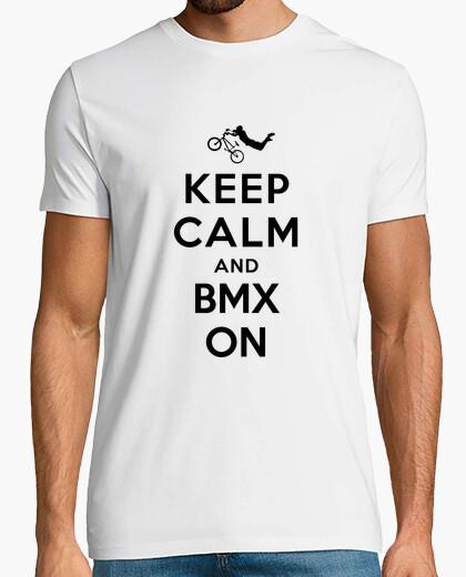 Camiseta mantener la calma y bmx en