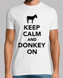 mantener la calma y burro en