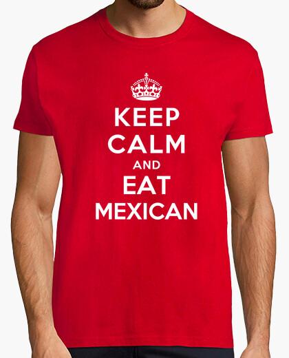 Camiseta mantener la calma y coma mexicano
