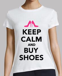 mantener la calma y comprar zapatos