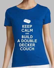 mantener la calma y construir una camisa sofá chica