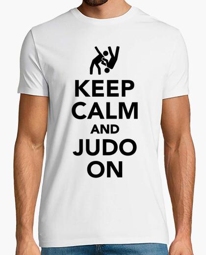 Camiseta mantener la calma y el judo