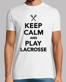 mantener la calma y el juego de lacrosse