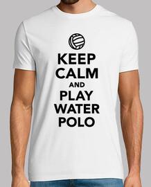 mantener la calma y el juego de waterpolo