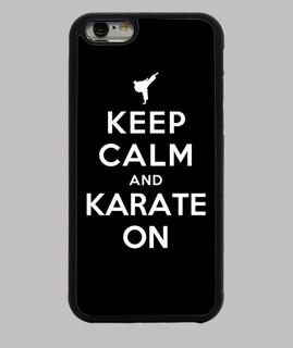 mantener la calma y el karate de