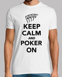 mantener la calma y el póker en