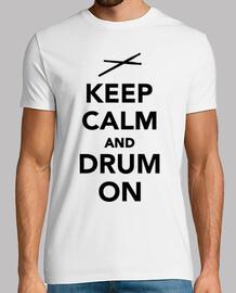 mantener la calma y el tambor en