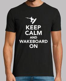 mantener la calma y el wakeboard en