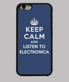 mantener la calma y escuchar música electrónica