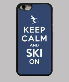 mantener la calma y esquiar en