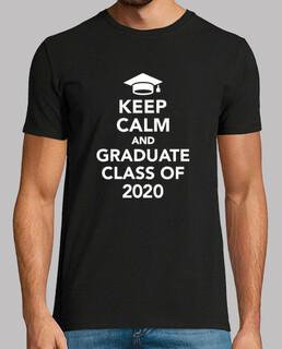 mantener la calma y graduarse de clase