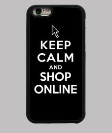 mantener la calma y hacer compras en línea