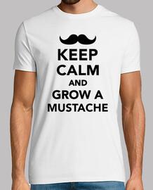 mantener la calma y hacer crecer un bigote