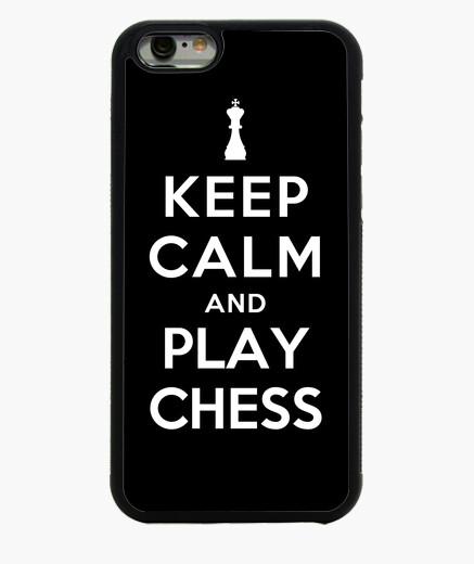 Funda iPhone 6 / 6S mantener la calma y jugar al ajedrez