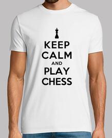 mantener la calma y jugar al ajedrez
