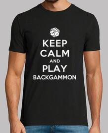 mantener la calma y jugar al backgammon
