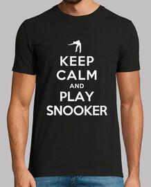 mantener la calma y jugar al billar