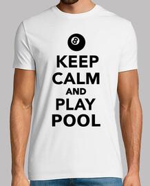 mantener la calma y jugar al billar pool