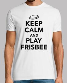 mantener la calma y jugar al frisbee