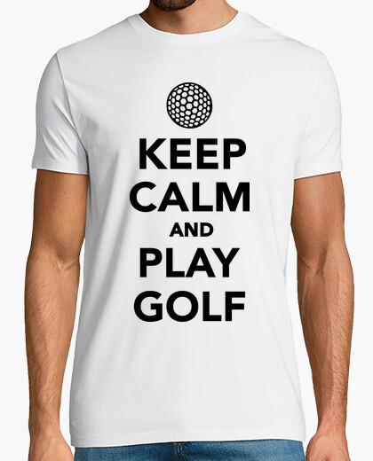 Camiseta mantener la calma y jugar al golf
