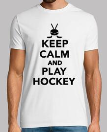 mantener la calma y jugar al hockey