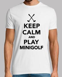mantener la calma y jugar al minigolf