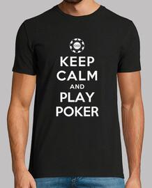 mantener la calma y jugar al póquer