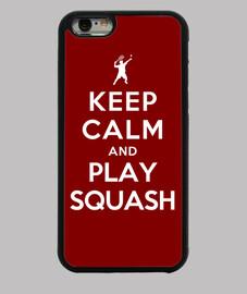 mantener la calma y jugar al squash