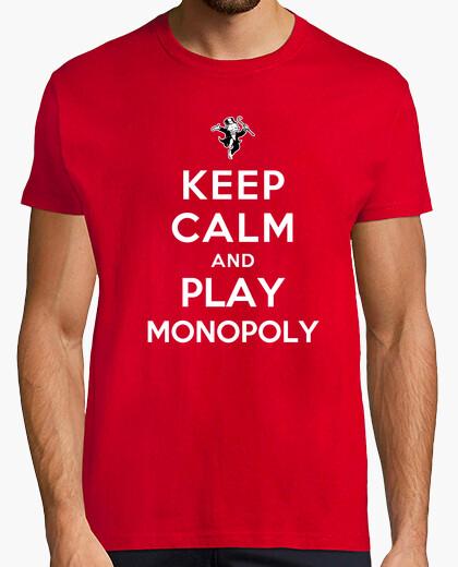 Camiseta mantener la calma y jugar monopolio