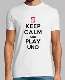 mantener la calma y jugar uno