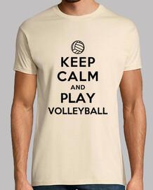 mantener la calma y jugar voleibol
