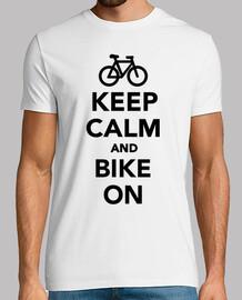 mantener la calma y la bicicleta en