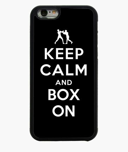 Funda iPhone 6 / 6S mantener la calma y la caja de