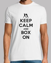 mantener la calma y la caja de