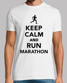 mantener la calma y la carrera de maratón