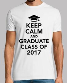 mantener la calma y la clase graduada de 2017