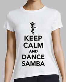 mantener la calma y la danza de samba
