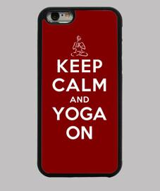 mantener la calma y la yoga de