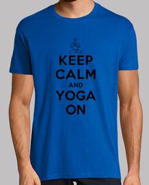 mantener la calma y la yoga en