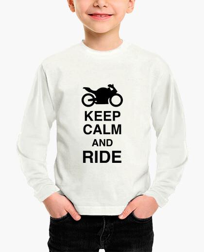 Ropa infantil mantener la calma y monte / bicicleta