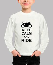 mantener la calma y monte / bicicleta