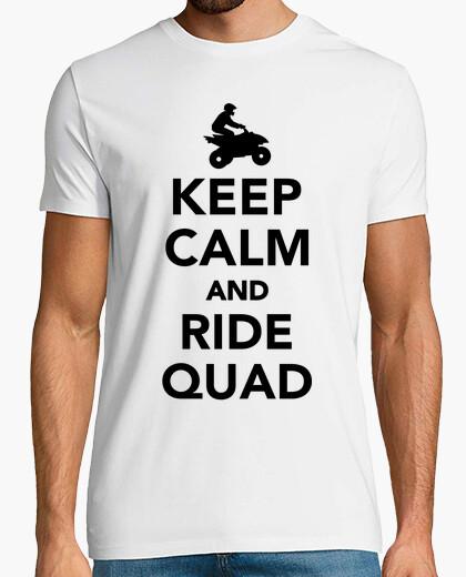 Camiseta mantener la calma y monte en quad