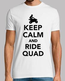mantener la calma y monte en quad