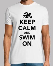 mantener la calma y nadar en