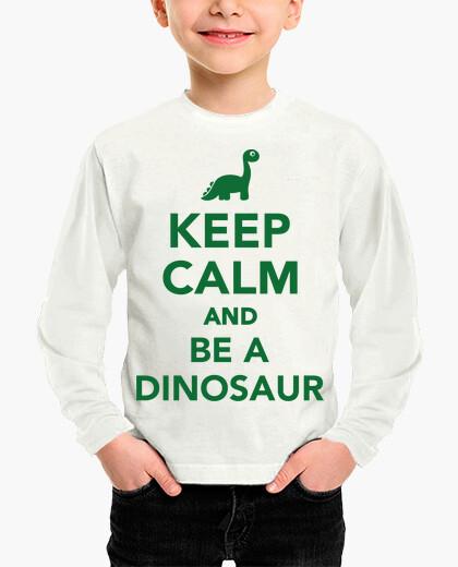 Ropa infantil mantener la calma y ser un dinosaurio