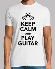mantener la calma y tocar la guitarra
