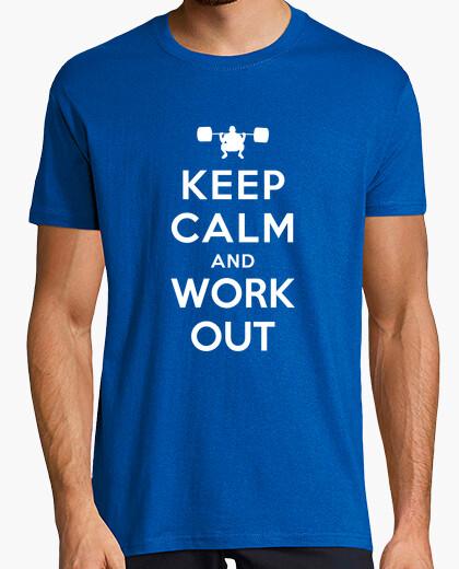 Camiseta mantener la calma y trabajar