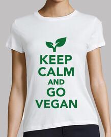 mantener la calma y vaya vegano