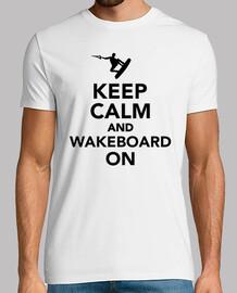 mantener la calma y wakeboard en